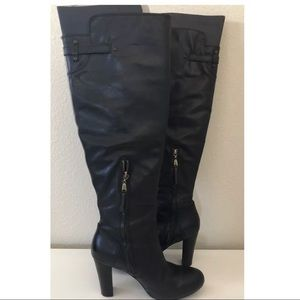 UGG Black Leather Over the Knee Boots ~Size 7.5~